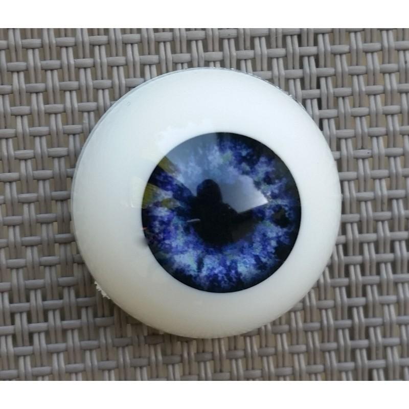 Yeux acrylique Bleu Foncé pour reborn